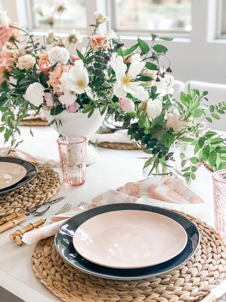 pink plates