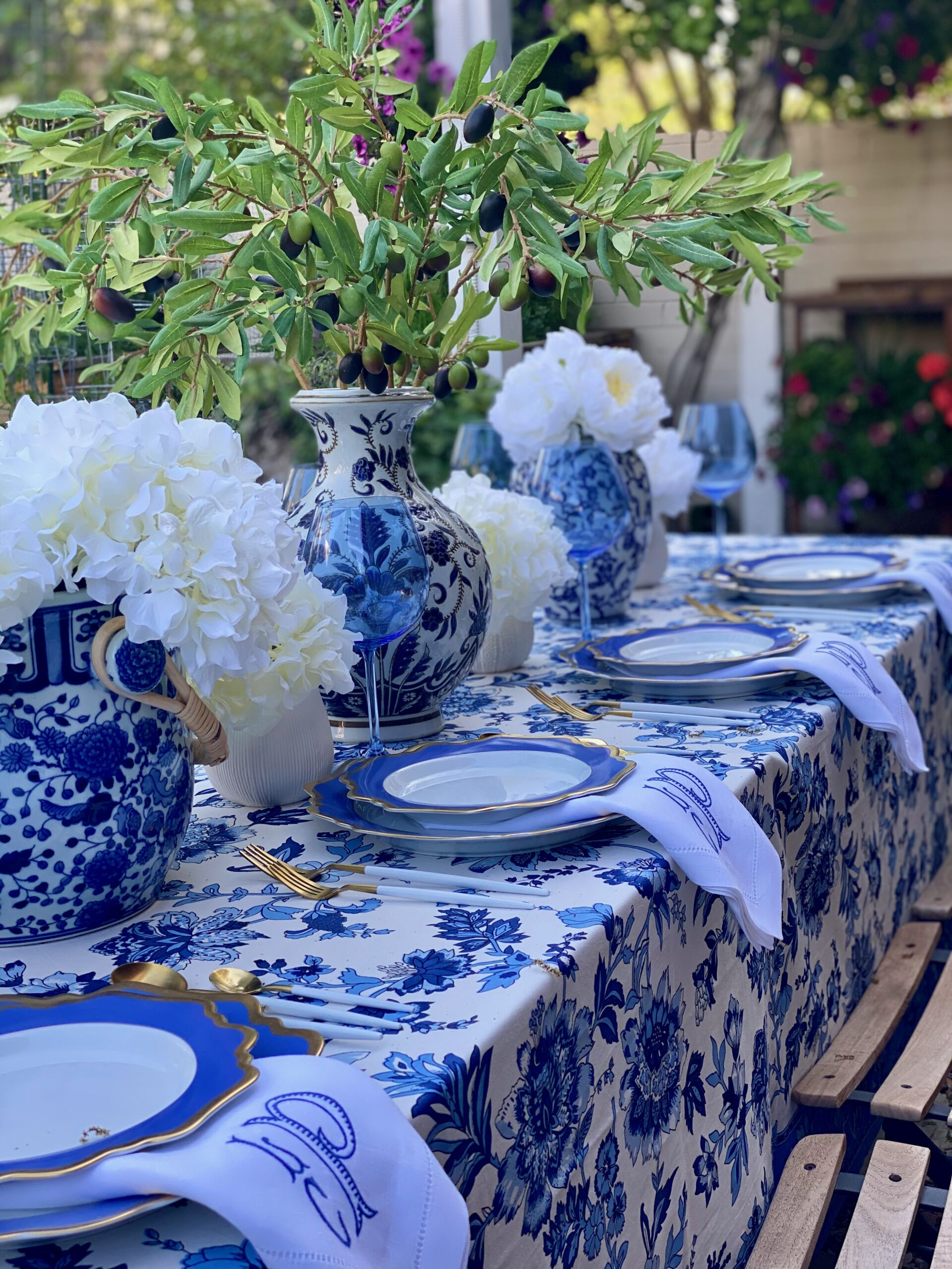 Blue and White Garden Dinner Party: Postponed