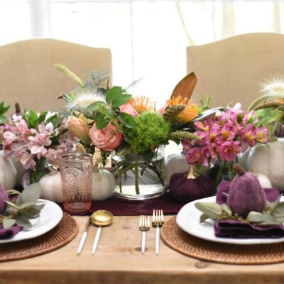 Time to Plan Thanksgiving: A Purple Table Idea
