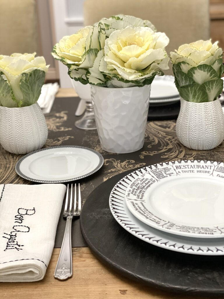 French flair place setting