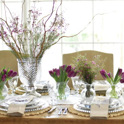purple country table