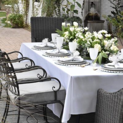 How to Dress up a Backyard Patio Table