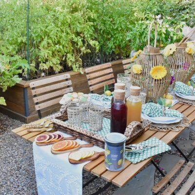 Garden Tea Party with a Flavored Iced Tea Bar